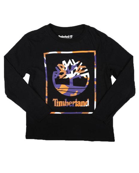Timberland - Camo Frame Long Sleeve Tee (8-20)