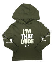 Sizes 2T-4T - Toddler - I'm That Dude Hooded Long Sleeve Tee (2T-4T)-2702365