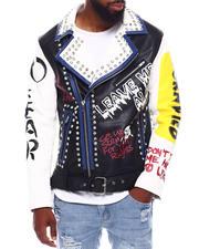 Fall-Winter - Born Wild PU Moto Jacket w Crystal Detail-2703098