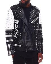 Fall-Winter - RockStar Tiger Moto Jacket w All over Studs-2703105