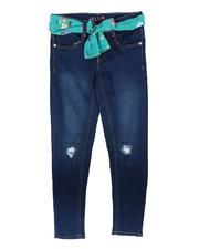 Delia's Girl - Rip & Repair Knee Jeans W/ Sash Belt (7-16)-2702575