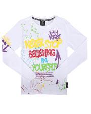 Tops - Never Stop Graffiti Long Sleeve Tee (8-20)-2702877