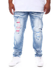 Makobi - Bleached Jeans With Contrast Underlay (B&T)-2698898