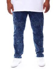 Buyers Picks - Washed Rip & Repair Stretch Moto Denim Pants (B&T)-2702607