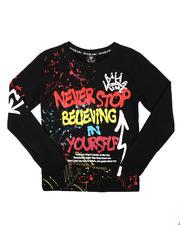 Tops - Never Stop Graffiti Long Sleeve Tee (8-20)-2702854