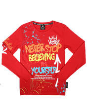 Tops - Never Stop Graffiti Long Sleeve Tee (8-20)-2702863