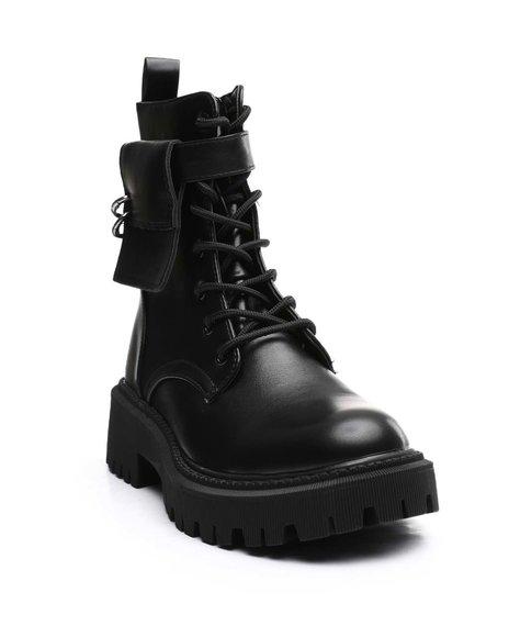 Fashion Lab - Lace Up Lug Sole Boots