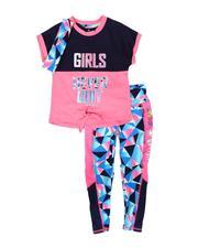 Delia's Girl - 3Pc Tee, Leggings & Headband Set (7-16)-2702418