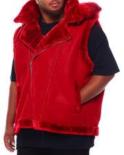Jordan Craig - Faux Suede Bonded Shearling Vest (B&T)-2702784