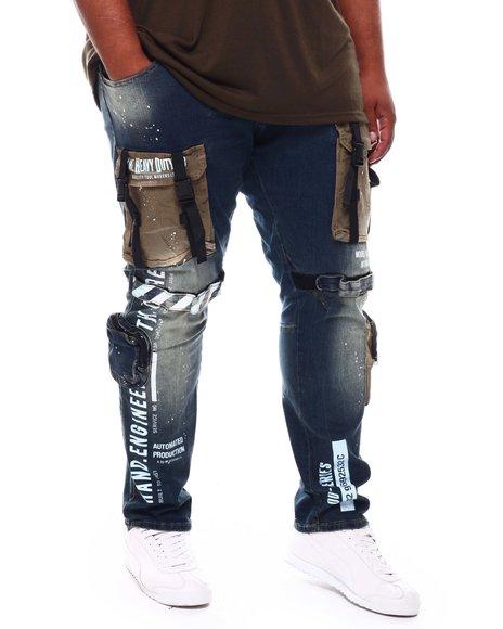 SMOKE RISE - Cargo Pocket Jeans (B&T)