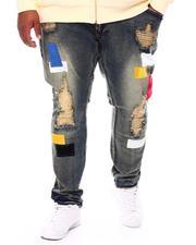 Jeans & Pants - Patchwork Distressed Denim Jeans (B&T)-2698778