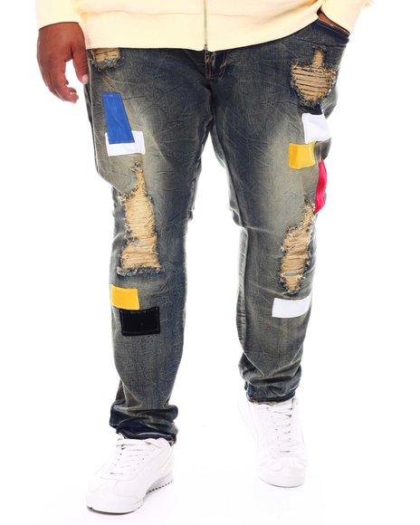 Frost Originals - Patchwork Distressed Denim Jeans (B&T)