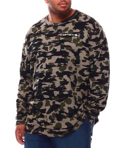 Carhartt - Relaxed Fit Heavyweight Long Sleeve Camo Logo Graphic T-Shirt (B&T)