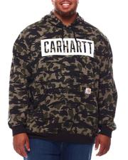 Hoodies - Loose Fit Midweight Hooded Camo Graphic Sweatshirt (B&T)-2698470