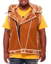 Jordan Craig - Faux Suede Bonded Shearling Vest (B&T)-2702780