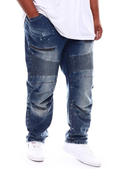 Akademiks - Zipper Detail Moto Jeans (B&T)