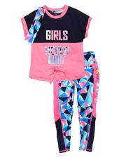 Delia's Girl - 3Pc Tee, Leggings & Headband Set (4-6X)-2702414