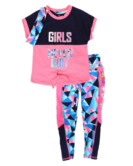 Delia's Girl - 3Pc Tee, Leggings & Headband Set (4-6X)