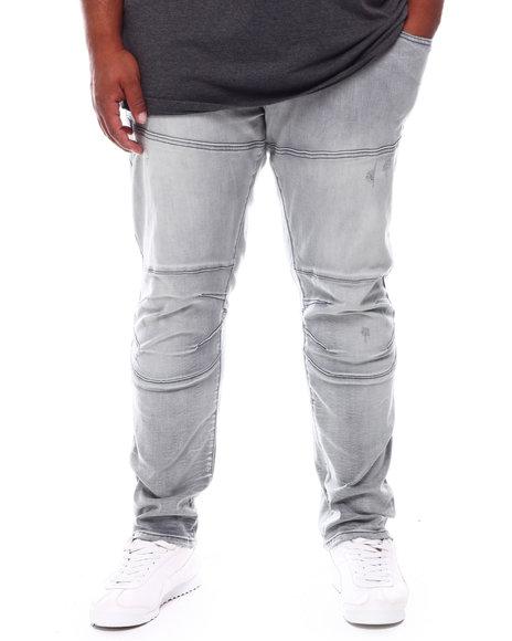 SMOKE RISE - Moto Knee Denim Jeans (B&T)