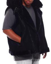 Jordan Craig - Faux Suede Bonded Shearling Vest (B&T)-2702788
