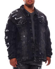 Outerwear - Broken Down Biker Denim Jacket (B&T)-2702720