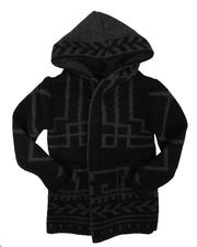 Sizes 2T-4T - Toddler - Pattern Print Hooded Cardigan Sweater (2-12)-2704093