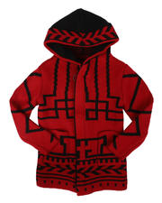 Sizes 2T-4T - Toddler - Pattern Print Hooded Cardigan Sweater (2-12)-2704100