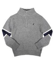 Nautica - Sleeve Stripe Half Zip Sweater (4-7)-2704243