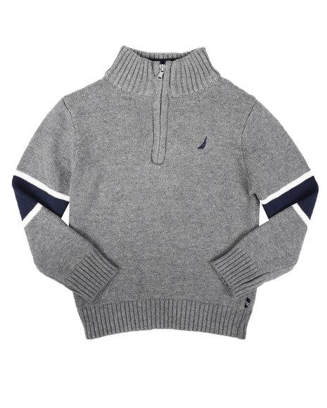 Nautica - Sleeve Stripe Half Zip Sweater (4-7)