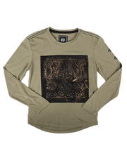 SASCO - Long Sleeve Brushed Chest Patch Artwork Tee (8-18)-2704935
