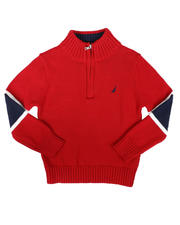 Sizes 2T-4T - Toddler - Sleeve Stripe Half Zip Sweater (2T-4T)-2704229