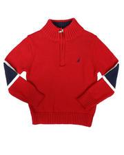 Nautica - Sleeve Stripe Half Zip Sweater (4-7)-2704233
