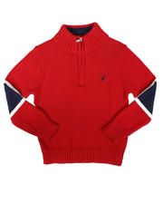 Nautica - Sleeve Stripe Half Zip Sweater (8-20)-2704253