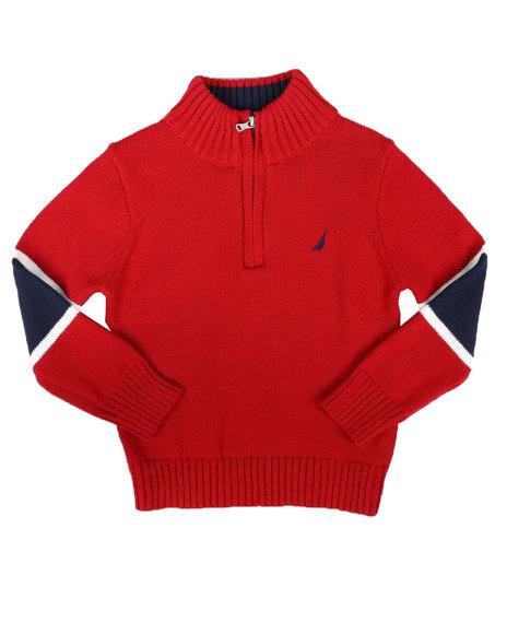 Nautica - Sleeve Stripe Half Zip Sweater (8-20)