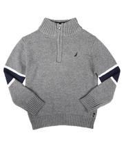 Nautica - Sleeve Stripe Half Zip Sweater (8-20)-2704258