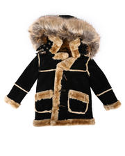 Sizes 2T-4T - Toddler - Faux Shearling Hooded Jacket (2T-4T)-2704795