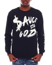 Long-Sleeve - Sauce God Printed Long Sleeve T-Shirt-2703974