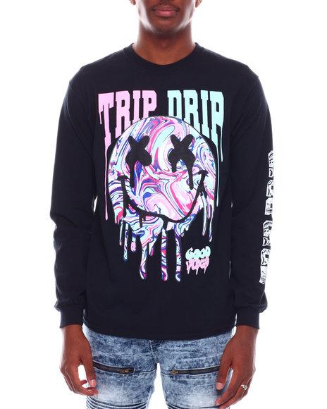 Buyers Picks - Trip Drip Printed Long Sleeve T-Shirt