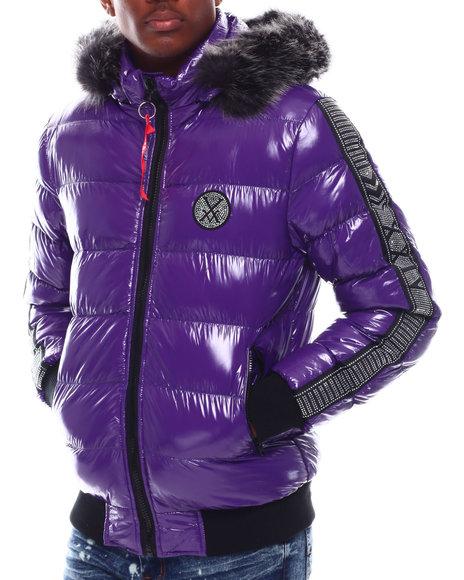 Buyers Picks - Glazed Nylon Puffer Jacket w Faux Fur Hood Detail