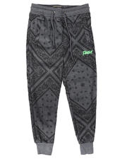Activewear - Fresh 3D Embroidery Bandana Print Jogger Pants (8-18)-2704940