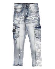 Boys - Cargo Pocket Verbiage Jeans (8-20)-2705007