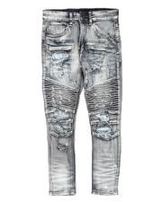 Arcade Styles - Distressed Moto Jeans (8-20)-2705035
