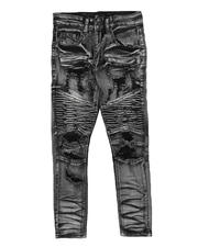 Arcade Styles - Distressed Moto Jeans (8-20)-2705064