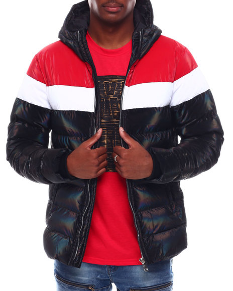 Buyers Picks - Ombre Iridescent Puffer Jacket