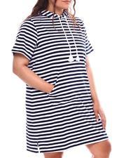 Fila - Dreamboat Stripe Dress(Plus)-2692760