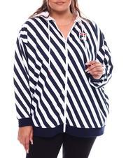 Hoodies - Shore Thing Stripe Full Zip Hoodie(Plus)-2692765