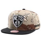 NBA, MLB, NFL Gear - Brooklyn Nets Choco Camo Snapback Hat-2704546
