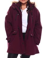 Outerwear - Long Soft Woven Anorak (Plus)-2705826