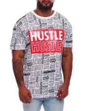 Buyers Picks - Hustle Newsprint Graphic T-Shirt (B&T)-2704819