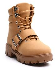 La Galleria - Lace Up W/ Buckle Lug Sole Boots (11-4)-2705667